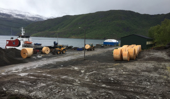 TFKable Group in cooperation with Onninen Norway AS delivered 276 tons of cables to the wind farm in Sørfjord, Norway