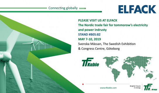 TFKable Group will be presenting cable range specially designed for the Swedish market at the Elfack 2019, Gothenburg.